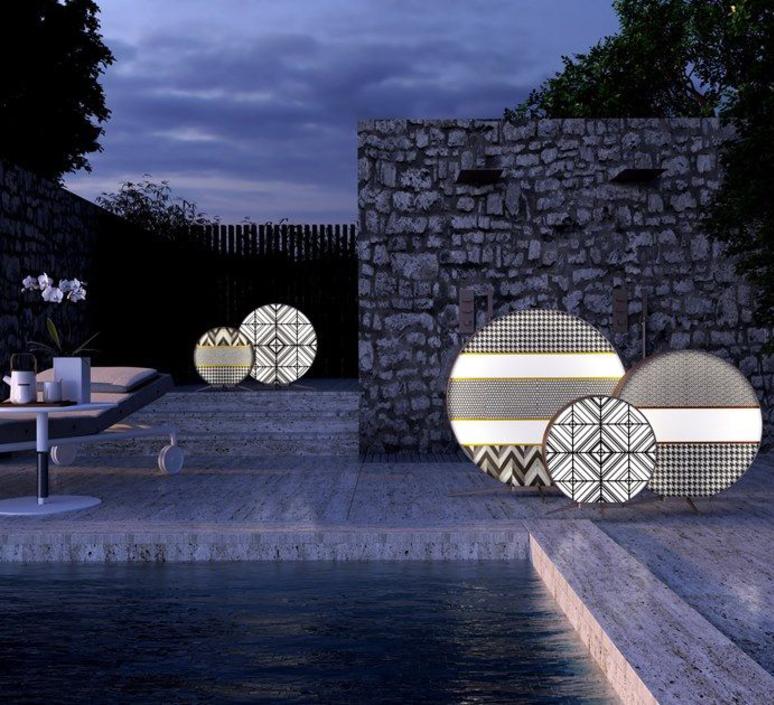 Babu textile l massimiliano raggi lampadaire d exterieur outdoor floor light  contardi acam 002617   design signed nedgis 87659 product
