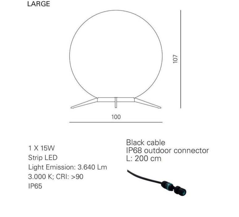 Babu textile l massimiliano raggi lampadaire d exterieur outdoor floor light  contardi acam 002619   design signed nedgis 87666 product