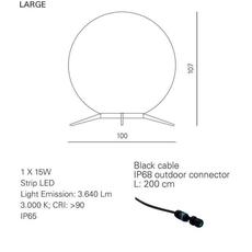 Babu textile l massimiliano raggi lampadaire d exterieur outdoor floor light  contardi acam 002619   design signed nedgis 87666 thumb