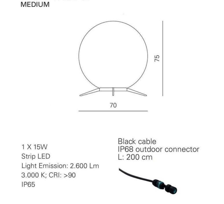 Babu textile m massimiliano raggi lampadaire d exterieur outdoor floor light  contardi acam 002615   design signed nedgis 87653 product