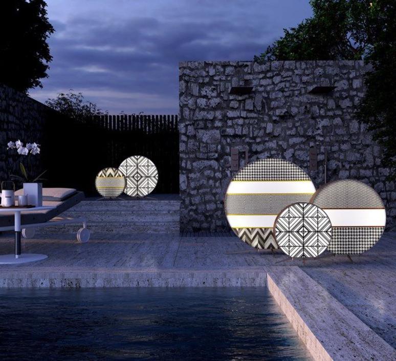 Babu textile m massimiliano raggi lampadaire d exterieur outdoor floor light  contardi acam 002613   design signed nedgis 87644 product