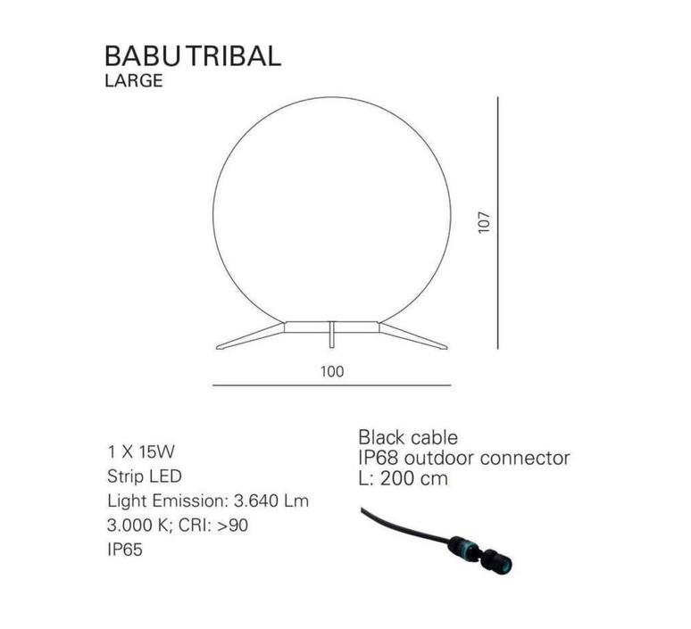 Babu tribal l massimiliano raggi lampadaire d exterieur outdoor floor light  contardi acam 002635   design signed nedgis 87694 product