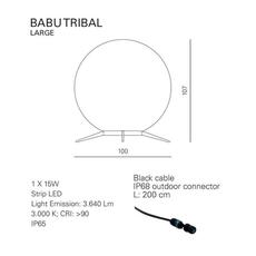 Babu tribal l massimiliano raggi lampadaire d exterieur outdoor floor light  contardi acam 002635   design signed nedgis 87694 thumb