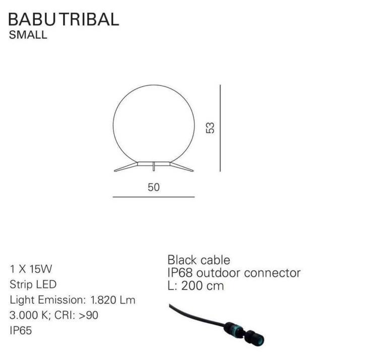 Babu tribal s massimiliano raggi lampadaire d exterieur outdoor floor light  contardi acam 002623   design signed nedgis 87679 product