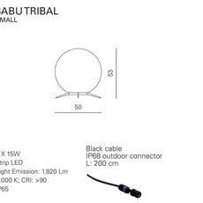 Babu tribal s massimiliano raggi lampadaire d exterieur outdoor floor light  contardi acam 002623   design signed nedgis 87679 thumb