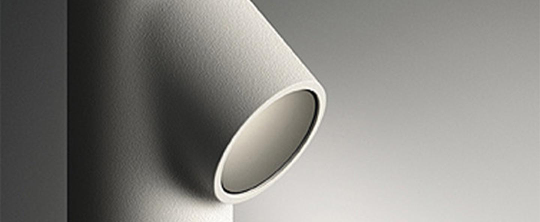 Lampadaire d exterieur bamboo 4803 blanc ip66 led 2700k 100lm o4cm h90cm vibia normal