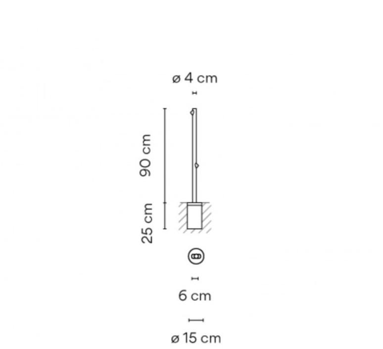 Bamboo 4803 antoni arola lampadaire d exterieur outdoor floor light  vibia 480354 1  design signed nedgis 81078 product