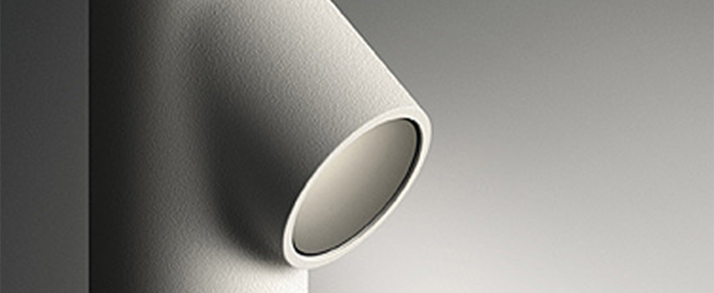 Lampadaire d exterieur bamboo 4804 blanc ip66 led 2700k 140lm o4cm h190cm vibia normal