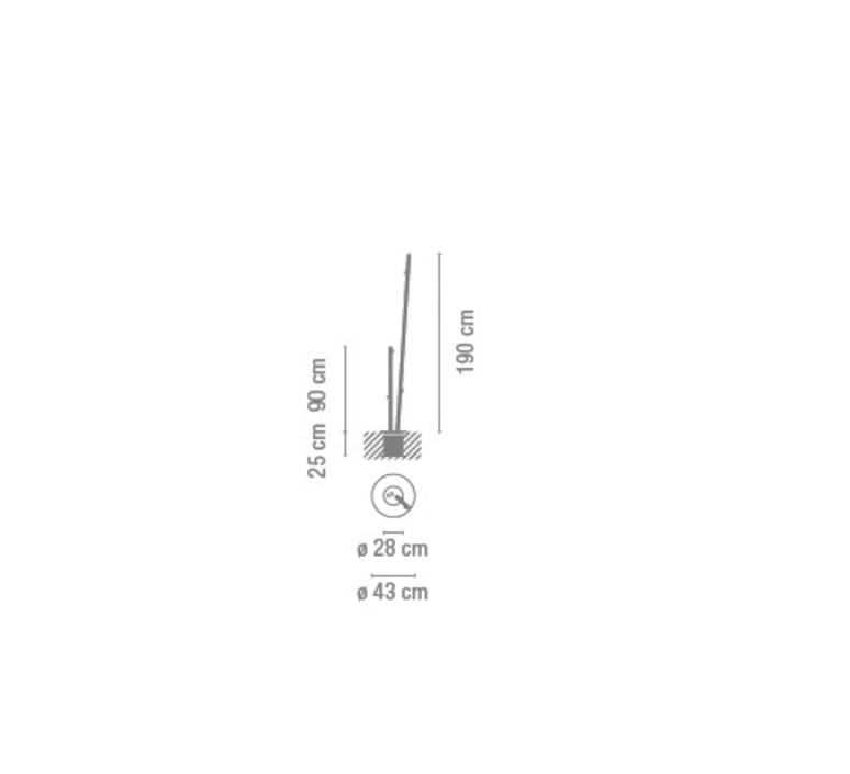 Bamboo 4810 antoni arola lampadaire d exterieur outdoor floor light  vibia 481058 1  design signed nedgis 81105 product