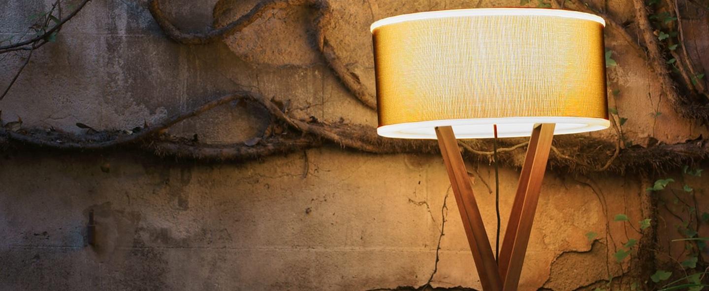 Lampadaire d exterieur cala bois marron h140cm marset normal