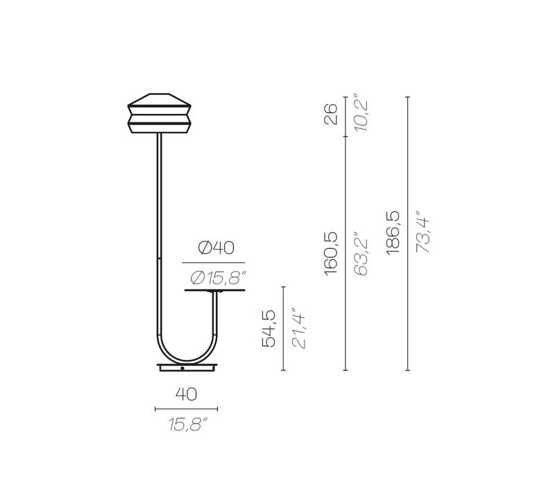 Calypfl fl outdoor antigua servomuto lampadaire d exterieur outdoor floor light  contardi acam 002419  design signed nedgis 88154 product
