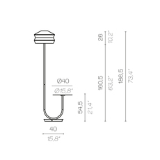 Calypfl fl outdoor antigua servomuto lampadaire d exterieur outdoor floor light  contardi acam 002419  design signed nedgis 88154 thumb