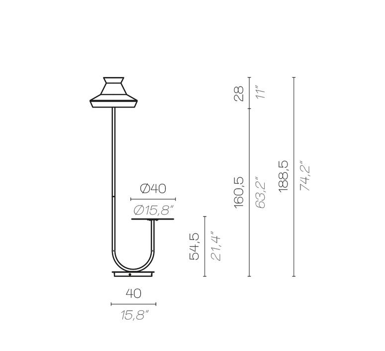 Calypfl fl outdoor guadaloupe servomuto lampadaire d exterieur outdoor floor light  contardi acam 002401  design signed nedgis 88122 product
