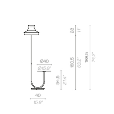 Calypfl fl outdoor guadaloupe servomuto lampadaire d exterieur outdoor floor light  contardi acam 002401  design signed nedgis 88122 thumb