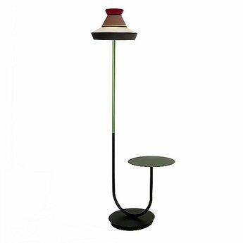 Lampadaire d exterieur calypfl fl outdoor guadaloupe noir rouge ip65 l40cm h186 5cm contardi normal