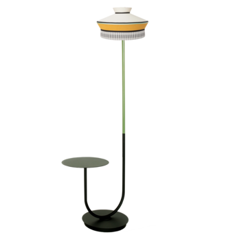 Lampadaire d exterieur calypfl fl outdoor martinique jaune ip65 o40cm h186 5cm contardi normal