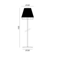 Dress brian rasmussen lampadaire d exterieur outdoor floor light  torremato d1a1  design signed 52213 thumb