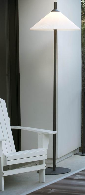 Lampadaire d exterieur hue gris blanc led o57 5cm h190cm faro normal