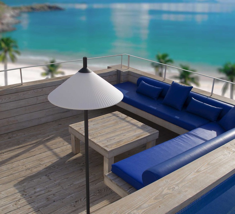 Hue nahtrand design lampadaire d exterieur outdoor floor light  faro 71567  design signed 48742 product
