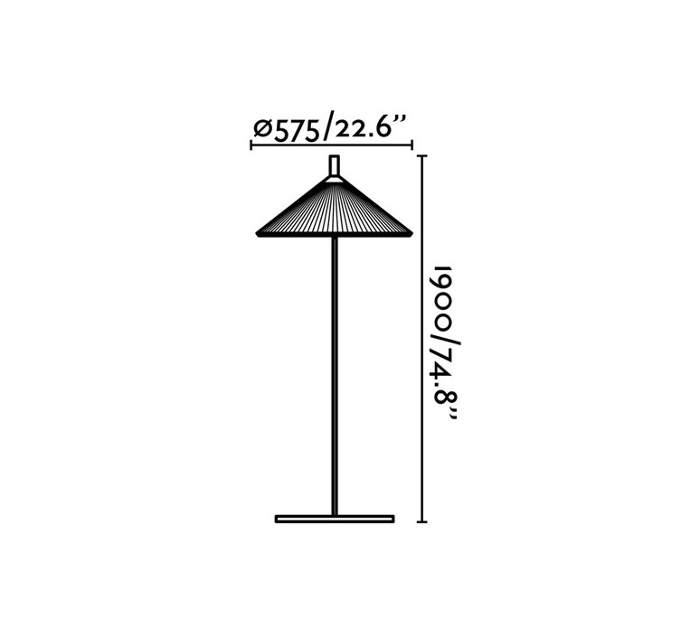 Hue nahtrand design lampadaire d exterieur outdoor floor light  faro 71567  design signed 48745 product