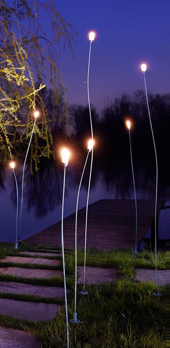 Lampadaire d exterieur mini mini cuivre h100cm led zava normal