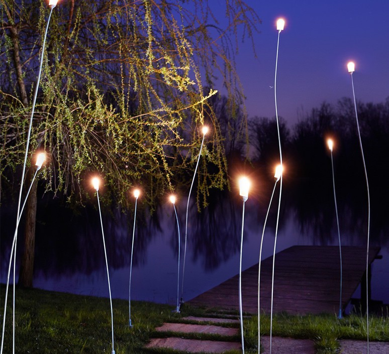 Mini mini franco zavarise zava mini mini h100cm outdoor copper green luminaire lighting design signed 61397 product