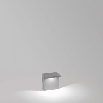 Lampadaire d exterieur oblix 15 gris alu ip55 led 3000k 812lm l15cm h16cm delta light normal