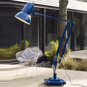 Lampadaire d exterieur original 1227 giant bleu h230cm anglepoise normal