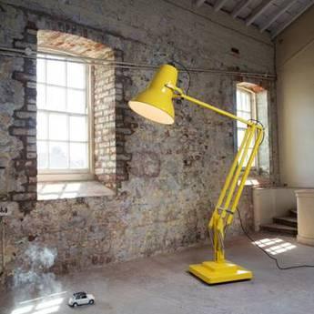 Lampadaire d exterieur original 1227 giant jaune h230cm anglepoise normal