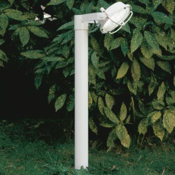 Lampadaire d exterieur out 180 blanc led o22cm h180cm martinelli luce normal