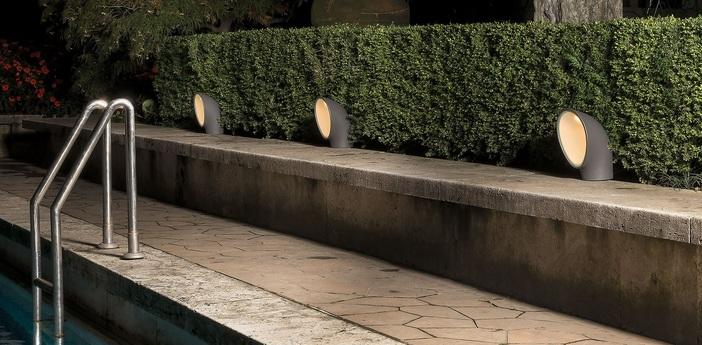 Lampadaire d exterieur piroscafo outdoor gris h27 5cm o19cm artemide normal