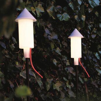 Lampadaire d exterieur pret a racket solaire blanc ip55 led 2700k 150lm o13cm h123cm fatboy normal
