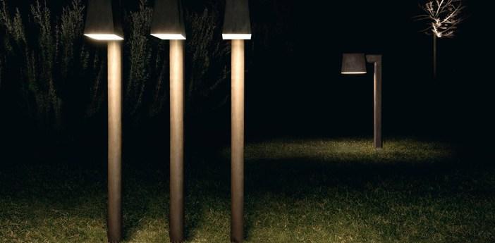 Lampadaire d exterieur saint tropez marron l16 5cm h217cm torremato normal