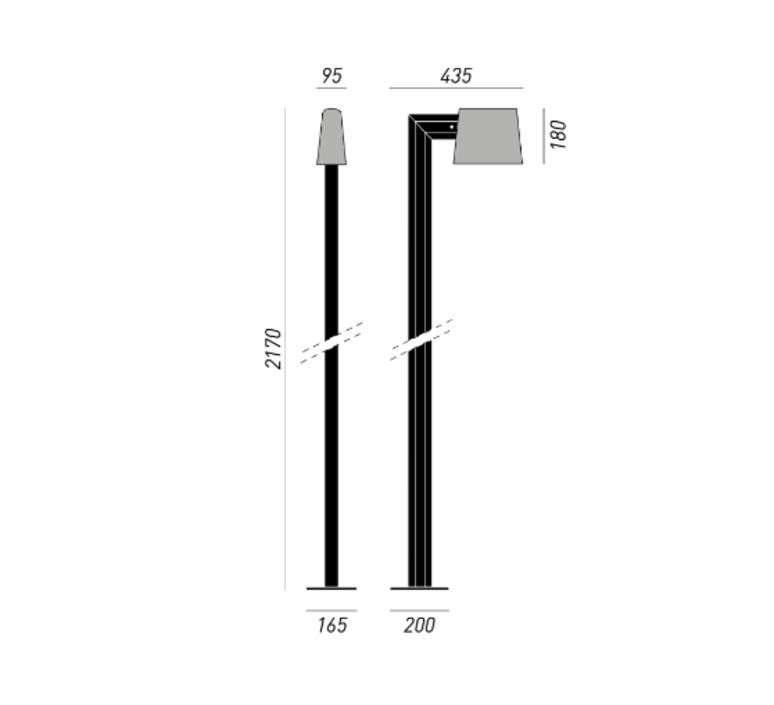 Saint tropez studio klass lampadaire d exterieur outdoor floor light  torremato z3c1  design signed 52122 product