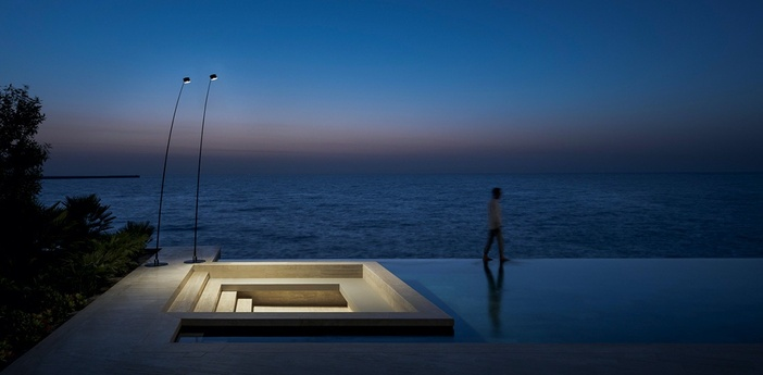 Lampadaire d exterieur sampei outdoor noir mat ip67 led 3000k 639lm l230cm h366cm davide groppi normal
