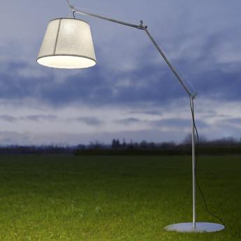 Lampadaire d exterieur tolomeo paralume outdoor blanc h232cm o60cm artemide normal