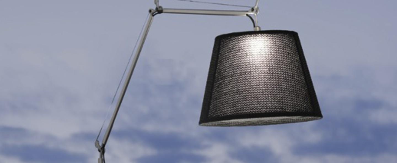 Lampadaire d exterieur tolomeo paralume outdoor noir basalte h232cm o60cm artemide normal