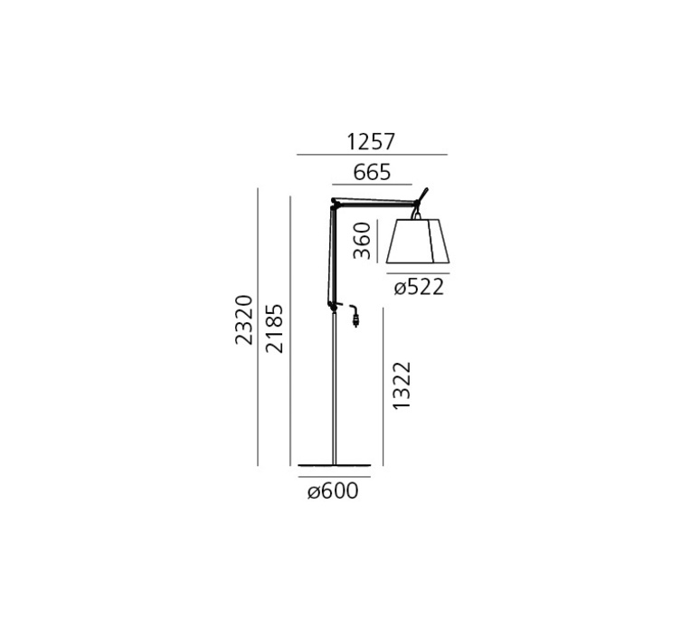 Tolomeo paralume outdoor michele de lucchi lampadaire floor light  artemide t076100 t076300 t077320  design signed 33790 product
