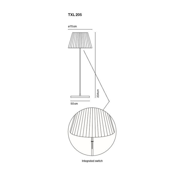 Txl 205 joan gaspar lampadaire d exterieur outdoor floor light  marset 16005 001  design signed 33454 product