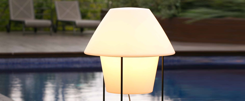 Lampadaire d exterieur versus blanc h124cm faro normal