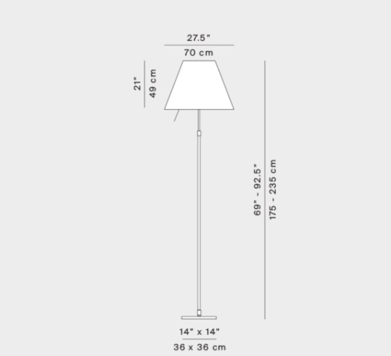 D13gti paolo rizzatto lampadaire floor light  luceplan 1d13gtih0020   design signed nedgis 110329 product