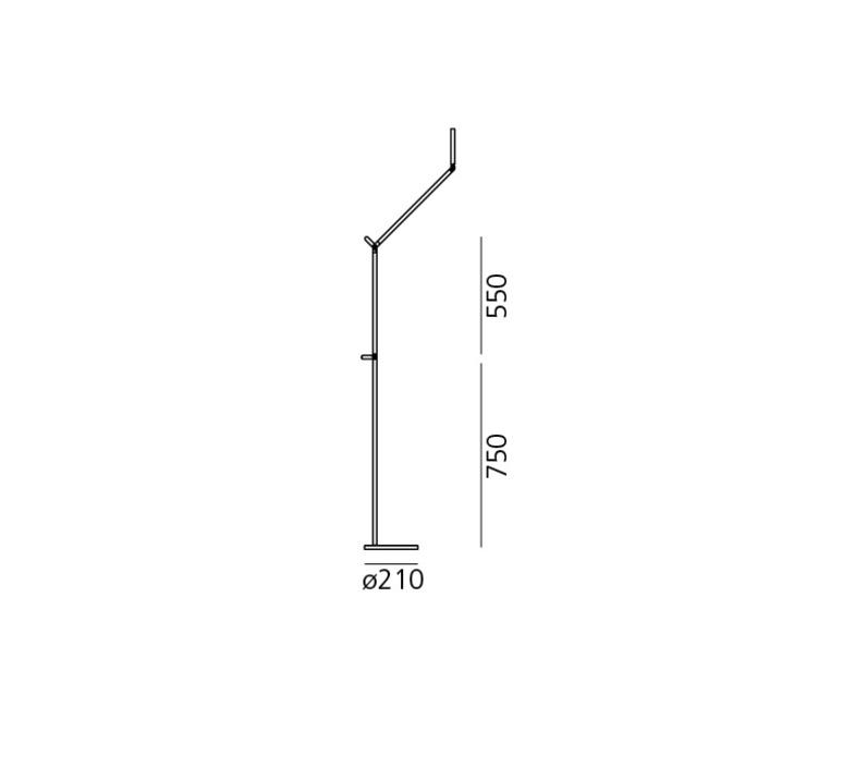 Demetra reading floor naoto fukasawa lampadaire floor light  artemide 1734w40a 1733040a  design signed 33513 product