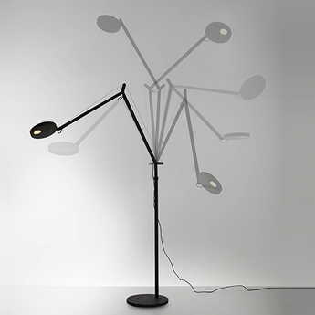 Lampadaire demetra reading floor noir h155cm l65cm led artemide normal