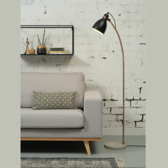 Lampadaire denver noir l37cm h145cm it s about romi normal