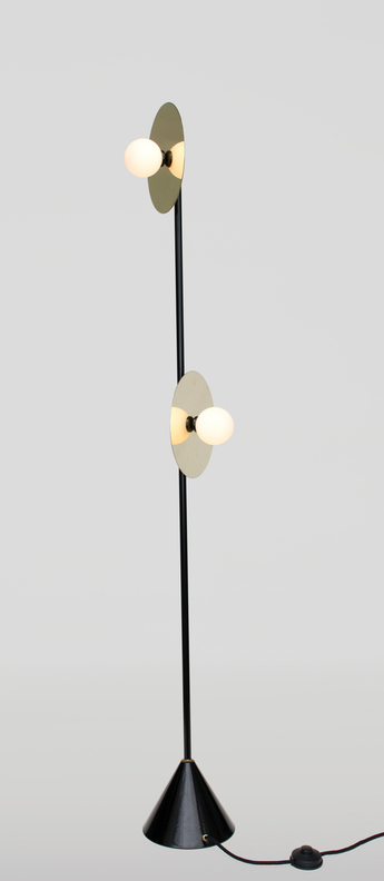 Lampadaire disc and sphere laiton o23cm h160cm atelier areti normal