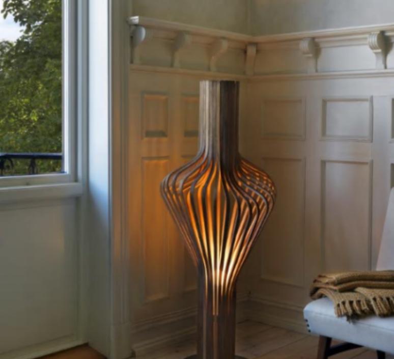 Diva peter natedal et thomas kalvatn egset lampadaire floor light  norhtern lighting 371 390 walnut  design signed 45429 product