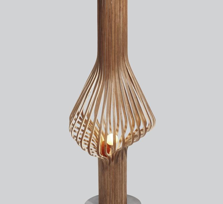 Diva peter natedal et thomas kalvatn egset lampadaire floor light  norhtern lighting 371 390 walnut  design signed 45430 product