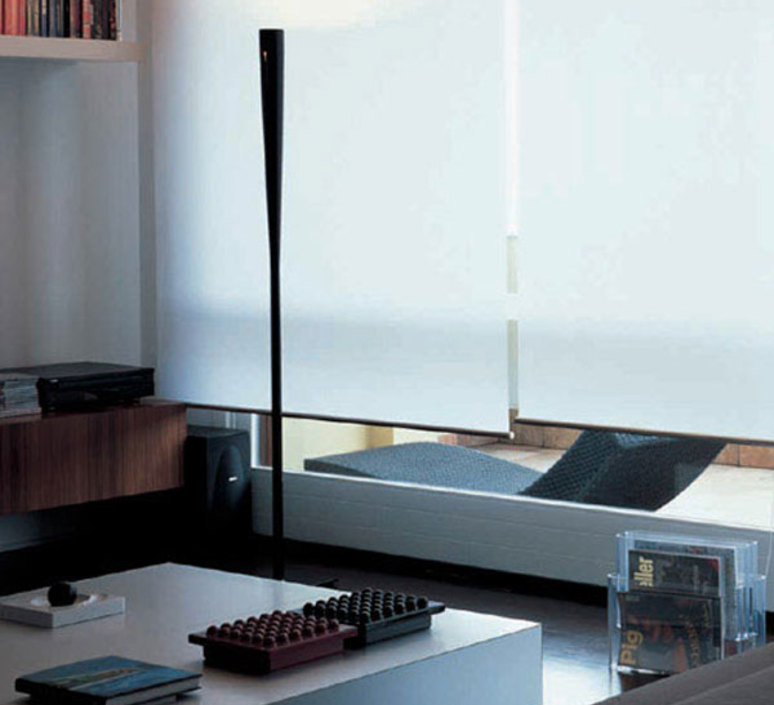 Do with carlo colombo lampadaire floor light  oluce 399 b15d nero  design signed 34355 product