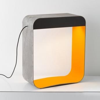 Lampadaire eau de lumiere led gris orange chene teinte h66cm designheure normal