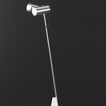 Lampadaire ed027 blanc chrome o35cm h140cm edizioni normal